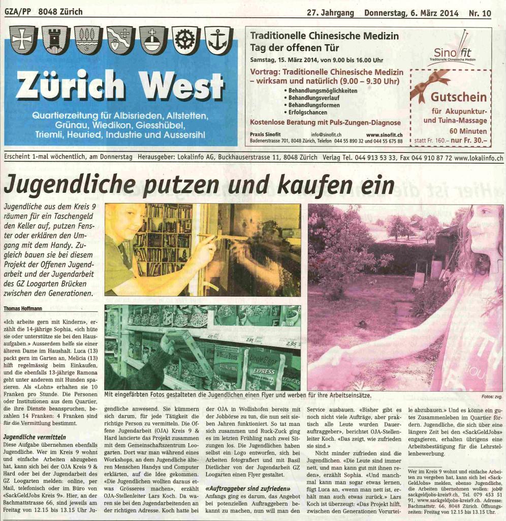 Artikel im Zürich West